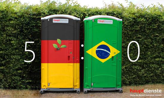 Zwischenstand beim 7:1 Deutschland VS. Brasilien.