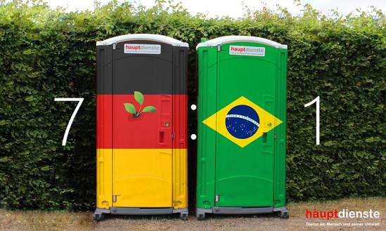 Endstand: Deutschland gegen Brasilien.