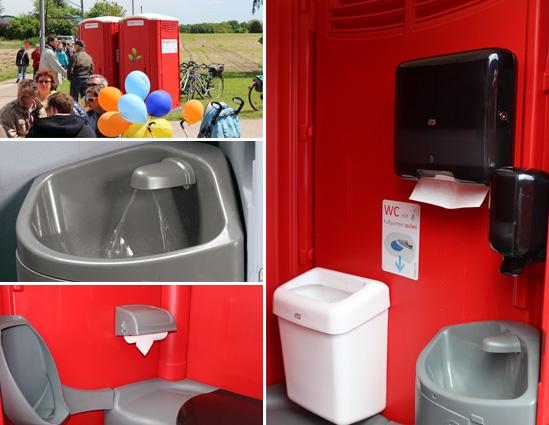 Fotos: Spargelwanderung, Handwaschbecken, Urinal & WC, Tork Handtuch & Seife Spender mit Premium Ausstattung.