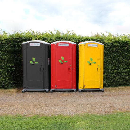 Schwarz, rot, goldene Premium PLUS Toilettenkabinen