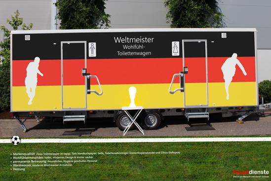 Sieg! weltmeisterlich wohlfühlen mit hauptdienste Toilettenwagen :)
