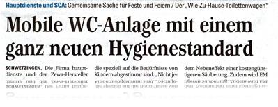 hauptdienste in der Schwetzinger Zeitung