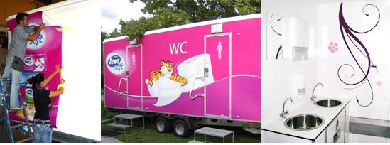 Fotos neuer Zewa Soft Toilettenwagen von hauptdienste