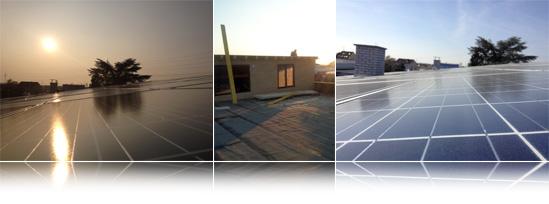 hauptdienste nimmt Photovoltaikanlage in Betrieb