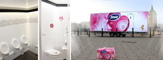Fotos: Zewa Toilettenwagen