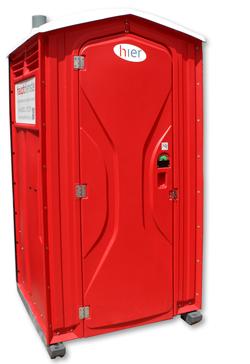 hier Standard Toilettenkabine